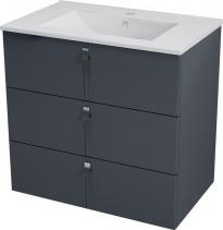 Sapho MITRA umyvadlová skříňka, 3 zásuvky, 89, 5x70x45, 2 cm, antracit MT112