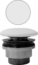 "GSI GSI umyvadlová výpust 5/4"", neuzavíratelná, tl.5-65 mm, keramická krytka, bílá mat PVC09"