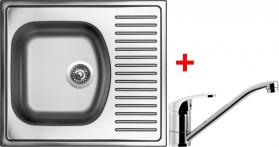Nerezový dřez Sinks SHORT 580 V+PRONTO SH580VPRCL