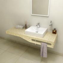 Sapho TAILOR+ rockstone deska 170x50 cm, límec C, držák ručníku vpravo TRP170C