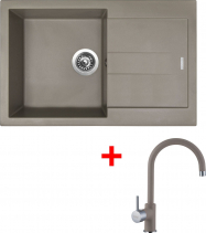 Granitový dřez Sinks AMANDA 860 Truffle+VITALIA GR AM86054VIGR54
