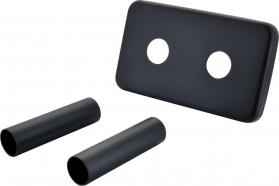 Sapho Krycí rozeta obdélníková k připojení TWIN, černá mat CP7135B