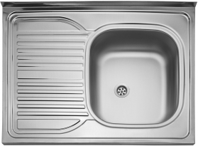 Nerezový dřez Sinks CLP-D 800 M 0,5mm pravý matný STSCPM8006005MP