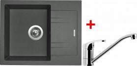 Granitový dřez Sinks LINEA 600 N Titanium+PRONTO LI60072NPRCL