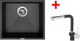 Granitový dřez Sinks FRAME 457 Metalb.+MIX 3P GR ACRF457M3P74