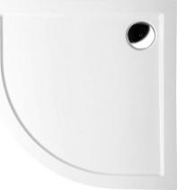 Polysan SERA sprchová vanička z litého mramoru, čtvrtkruh 80x80x4cm, R500, bílá 61111