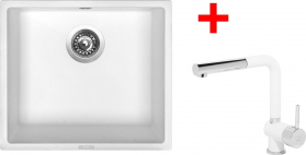 Granitový dřez Sinks FRAME 457 Milk+MIX 3P GR ACRF457M3P28