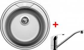 Nerezový dřez Sinks ROUND 510 V+PRONTO RO510VPRCL