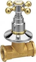 Reitano Rubinetteria ANTEA podomítkový ventil, studená, chrom/zlato 3052C