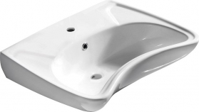 Sapho DISABLED keramické umyvadlo 59x45, 5cm, pro tělesně postižené (3001) 10TP60060