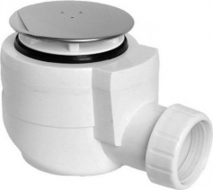 Sapho Vaničkový sifon průměr otvoru 50 mm, DN40, krytka leštěný nerez EWN0540