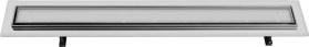 Sapho FLOW 97 nerezový sprchový kanálek s roštem pro dlažbu, 970x150x82 mm FP231