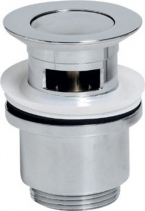 Sapho Uzavíratelná kulatá umyvadlová výpusť KLIKKLAK, malá zátka, V 30-50mm, chrom CV1008