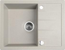 Sapho Granitový vestavný dřez s odkapávací plochou, 65x50 cm, béžová GR6502