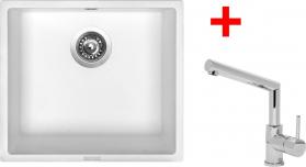 Granitový dřez Sinks FRAME 457 Milk+MIX 350P ACRF45728M350P