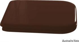 Kerasan WALDORF WC sedátko Soft Close, dřevo masiv, ořech/chrom 418840