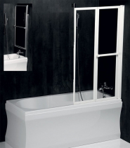 Polysan LANKA2 pneumatická vanová zástěna 820 mm, stříbrný rám, čiré sklo 37817