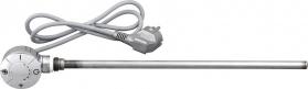 Aqualine Elektrická topná tyč s termostatem, rovný kabel, 400 W, chrom LT67444