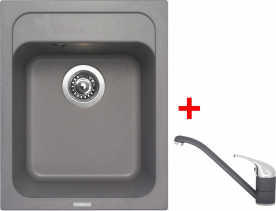 Granitový dřez Sinks CLASSIC 400 Titanium+CAPRI 4 GR UKC400CA472