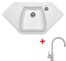 Granitový dřez Sinks NAIKY 980 Milk+VITALIA GR NA98028VIGR28