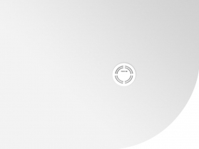 Polysan FLEXIA vanička z litého mramoru čtvrtkruh, s možností úpravy rozměru, 100x80x2, 5cm, R550, levá 91241