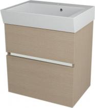 Sapho LARGO umyvadlová skříňka 59x60x41cm, dub benátský LA604