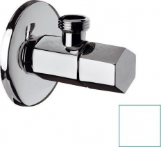 Sapho SPY rohový ventil s rozetou, 1/2'x 3/8' , bílá mat PY58/14