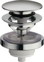 Silfra Uzavíratelná kulatá výpusť pro umyvadla s přepadem Click Clack, V 5-60mm, chrom UD85051