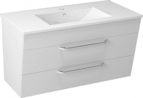Sapho KALI umyvadlová skříňka 89x50x45cm, bílá (56091) KA090-3030