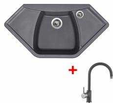 Granitový dřez Sinks NAIKY 980 Titanium+VITALIA GR NA98072VIGR72