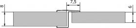 Polysan Těsnění mezi skla (praporek) 2000mm, na sklo 8mm 309B5-08