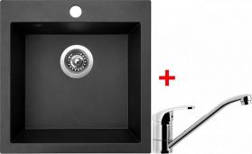 Granitový dřez Sinks VIVA 455 Metalblack+PRONTO VIV74PRCL