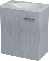 Sapho LATUS II umyvadlová skříňka 41, 6x50x25 cm, dub stříbrný LT210