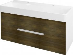 Sapho MEDIENA umyvadlová skříňka 117x50, 5x48, 5cm, bílá mat/dub graphite MD121