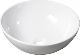 Sapho RONDA keramické umyvadlo, průměr 41cm, na desku (7702) 10AR65041