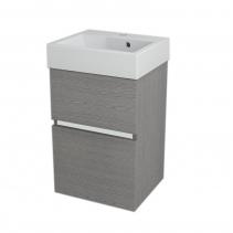 Sapho LARGO umyvadlová skříňka 41x60x35cm, dub stříbrný LA420