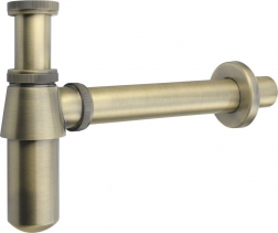 Sapho RETRO umyvadlový sifon 1'1/4, odpad 35 mm, bronz 9696