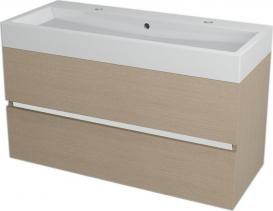 Sapho LARGO umyvadlová skříňka 99x50x41cm, dub benátský LA104