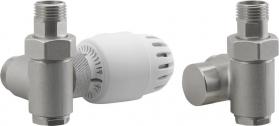 Aqualine ECO COMBI připojovací sada ventilů, termostatická, levá, nikl/bílá CP993