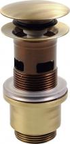 """Silfra Umyvadlová výpust 5/4"""", tichý click-clack, velká zátka, tl.40-64mm, bronz UD399S92"""