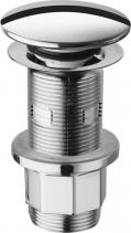 """Silfra Umyvadlová výpust 5/4"""", click-clack, velká zátka, tl.10-80mm, ABS chrom WA43451"""