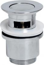 """Sapho Umyvadlová výpust 5/4"""", click-clack, malá zátka, tl.30-45mm, chrom CV1008"""