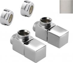 Sapho CUBE připojovací sada ventilů ruční rohová, broušený nerez CP4510S