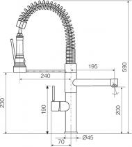 Sinks LADY CHEF PROF S lesklá MP68047