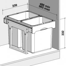 Sinks EKKO EASY 40 2x16l MP68090