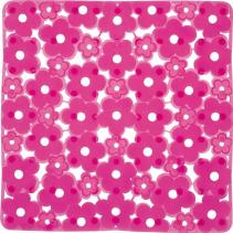Aqualine MARGHERITA podložka do sprchového koutu 51, 5x51, 5cm s protiskluzem, PVC, růžová 975151P0