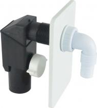 Klum Sifon pračkový podomítkový ø 40/50 mm, bílý, plast PR7010C