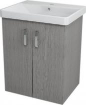 Sapho THEIA umyvadlová skříňka 56, 4x70x43, 5cm, 2xdvířka, dub stříbrný TH063
