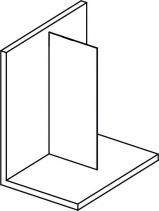 Polysan MODULAR SHOWER jednodílná zástěna pevná k instalaci na zeď, 900 mm MS1-90