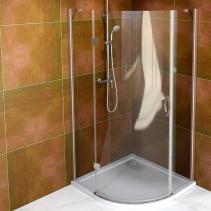 Gelco LEGRO čtvrtkruhová sprchová zástěna jednokřídlá 900x900mm, čiré sklo GL6590